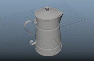Modeling a Coffee Pot Style Wild West in Maya