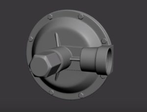 Modeling a Gas Regulator in Autodesk 3ds Max
