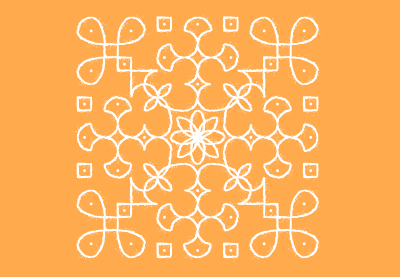 Draw a Traditional Indian Kolam Pattern in Illustrator