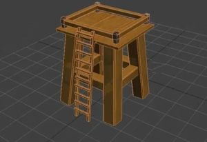 Modeling a Simple Wooden Tower in 3ds Max