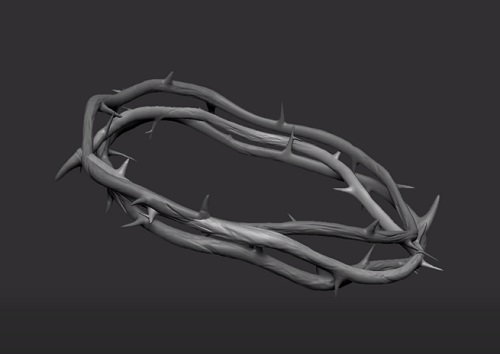 Modeling a Crown of Thorns in 3ds Max and ZBrush