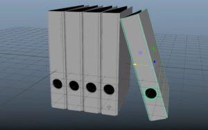 Modeling a 3D Binders in Autodesk Maya 2018