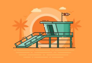 Draw a Beach Guard Tower Illustration in Illustrator
