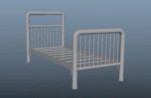 Modeling a Military / Hospital Steel Bed in Maya