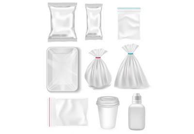 Draw a Set of Polypropylene and Plastic Packages in Illustrator