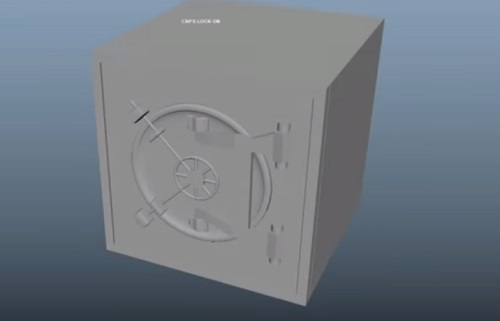 Modeling a 3D Safe in Autodesk Maya 2018