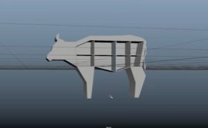 "Modeling a ""Cow"" Bookcase in Maya 2018"
