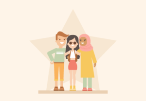 Draw Group of International Friends in Illustrator