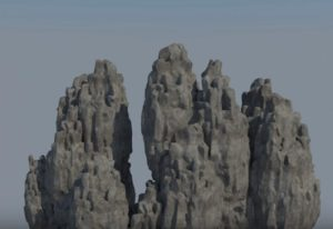 Modeling a Chinese Mountains in 3ds Max and ZBrush