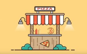 Create a Flat Pizza Hut Background in Illustrator