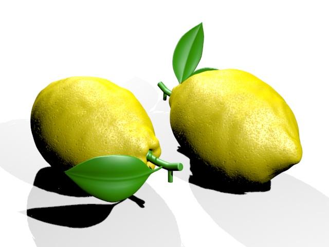 Lemon Fruit 3D Object Free download