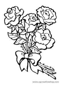rose, disegno da colorare