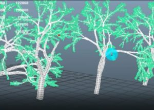 Animate Growing Trees in Autodesk Maya