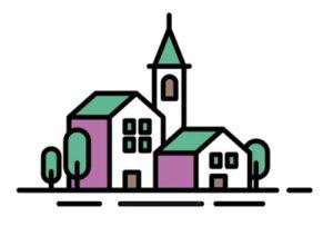 Draw a Simple Village Illustration in Adobe Illustrator
