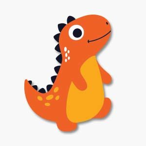 Cute Little Dino Free Vector