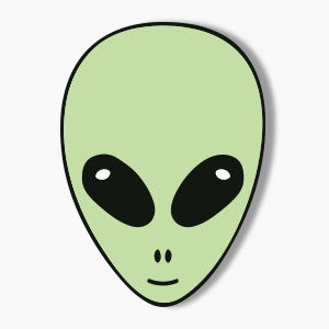 Roswell Alien Face Vector