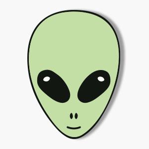 Roswell Alien Face Vector