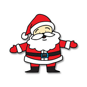 Santa Claus Colorfull Free Vector