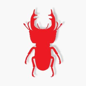 Stag Beetles Silhouette Free download