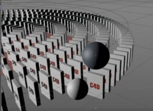 Create e Domino Eeffects Animation in Cinema 4D