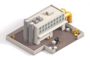 Model, Texturing an Animation a Low-Poly Factory Scene in Cinema 4D