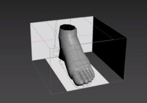 Modeling a Low Poly Foot in Autodesk 3ds Max