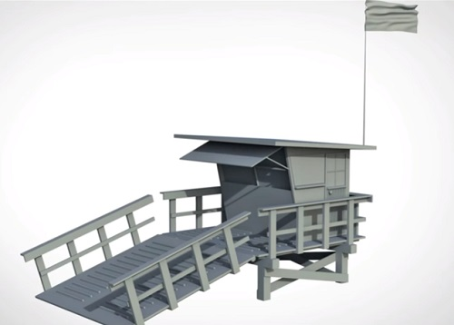 Modeling a Lifeguard Station in Autodesk Maya