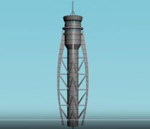 Modeling Airport Tower in Autodesk 3ds Max