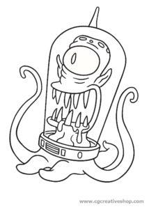 Kang Alieno dei Simpson disegno da colorare