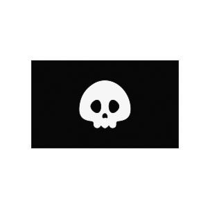 Simple Pirate Flag free vector