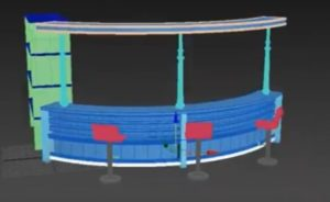 Modeling a Furniture for Bar in Autodesk 3ds Max