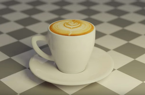 Modeling a Italian Cappuccino Cup in Blender