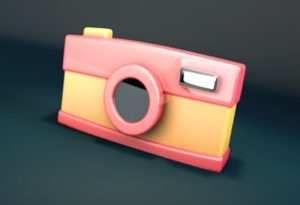 Modeling a Simple Camera Cartoon in Cinema 4D
