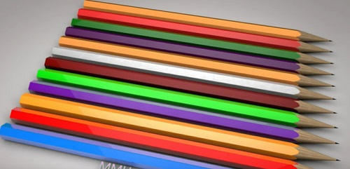 Modeling a Colored Pencils in Maxon Cinema 4D