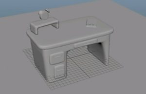 Modeling a 3D Cartoon Desk in Maya