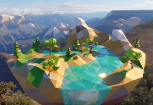 Modeling a Low Poly Island in Blender 2.8