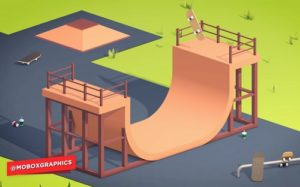 Modeling and animation of a Stylized Skate Park in Cinema 4D