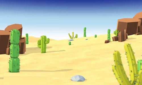 Model & Animate a Cartoon Style Cactus Desert Scene in Cinema 4D