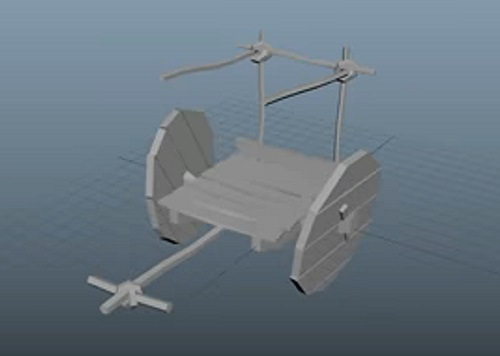 Modeling a Low Poly Wooden Cart in Autodesk Maya