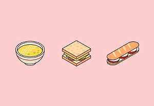 Draw a Vector Isometric Art Food Icons in Illustrator