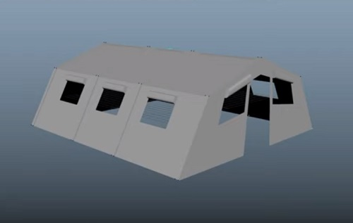 Model an Simple Army Tent in Autodesk Maya