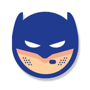 Batman Emoji Icon Free Vector
