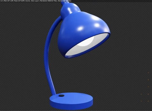 Modeling a Simple Table Lamp in Blender