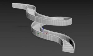 Modeling a Complex Spiral Staircase in 3ds Max