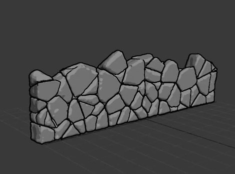 Create Rock Wall Easily with 3ds Max and Vonoroi Fracture