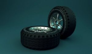 Whell and Tire 3ds Max